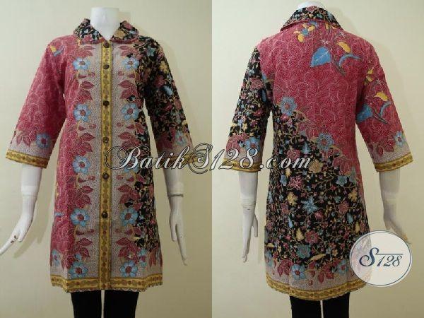 busana batik klasik modern model dress untuk wanita dewasa