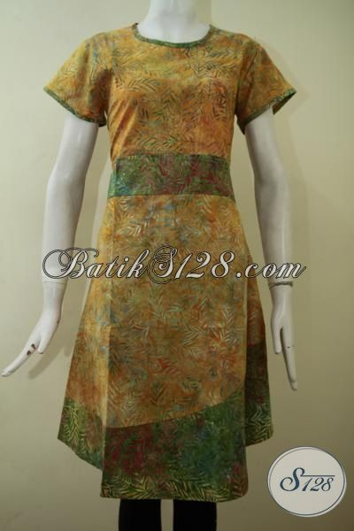 Jual Dress Batik Model Lengan Pendek Proses Cap Smoke