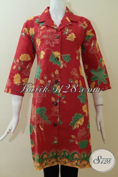 Pakaian Batik Wanita Elegan, Dress Anggun Berkelas Harga Murah [DR2325P-L]