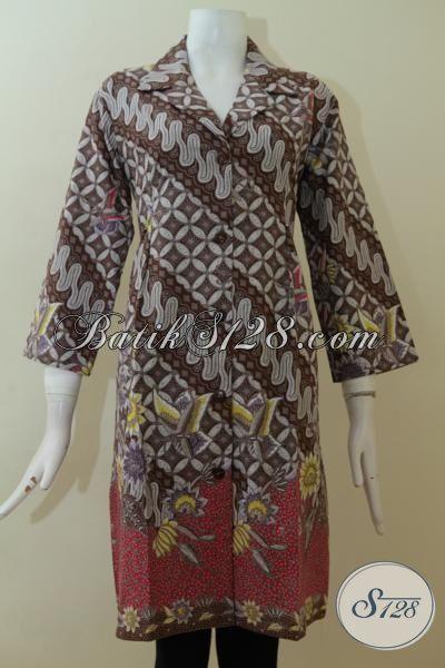 Model Baju Dress Batik Bagus Cantik Online Ukuran XL [DR2328P-XL]