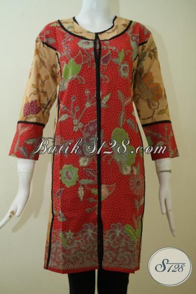 Tempat Belanja Online Aneka Baju Batik Wanita, Sedia Dress Batik Murah Kwalitas Mewah Untuk Baju Kerja Dan Pesta [DR2454PL-L]
