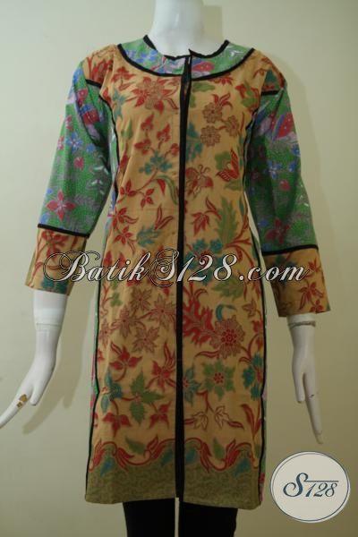Jual Dress Batik Paling Dicari Saat Ini, Busana Batik Wanita Desain FormalYang Pas Buat Kerja Dan Trendy Untuk Pesta Resmi [DR2455PL-L]