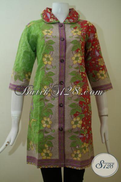 Online Shop Busana Batik Dress Untuk Wanita Muda Dan Dewasa, Baju Batik Mewah Kwalitas Halus Dengan Harga Terjangkau [DR2465P-S]