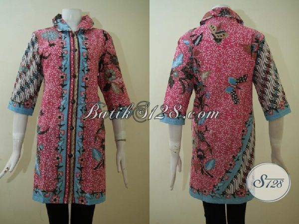 Dress Batik Mewah Ukuran Jumbo Batik Kerja Wanita Dewasa
