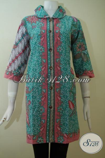 Jual Baju Batik Dress Wanita Muda Tampil Lebih Bergaya, Busana Batik Print Dengan Motif Keren Serta Kombinasi Warna Bagus Siap Sempurnakan Penampilan di Setiap Acara [DR2469P-XL]