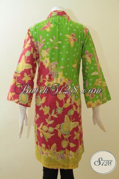 dress batik paling trendy saat ini dengan kombinasi warna