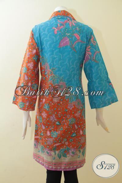 Toko Online Batik Dress Paling Update, Sedia Dress Batik Printing Model Terbaru Dengan Kombinasi Warna-Warni Keren Serta Motif Modern Membuat Kesan Mewah [DR2676P-XL]