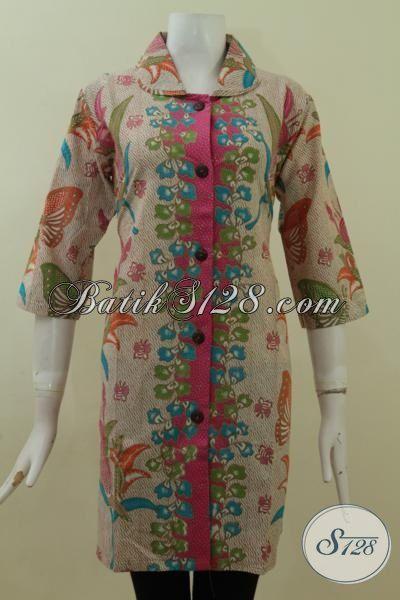 Busana Modern Bahan Batik Motif Terkini, Batik Dress Proses Printing Desain Mewah Harga Murah Meriah, Size M – XXL