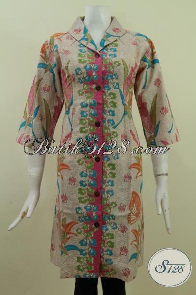 Tampil Rapi Dan Trendy Dengan Batik Dress Solo Kwalitas Bagus, Baju Batik Kerja Dan Pesta Proses Print Harga Murmer, Size M