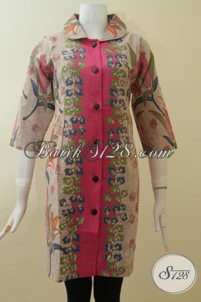 Dress Batik Wanita Cantik, Elegan, Feminin, Cocok Untuk Presentasi Tampil Percaya Diri [DR2859P-M]