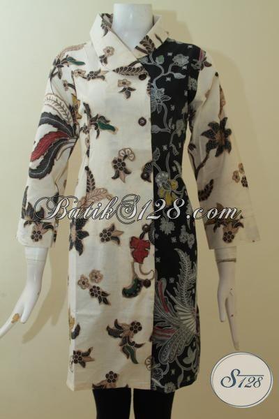 Batik Jawa Pakaian Cewek Kombinasi Dua Motif Tampil Keren