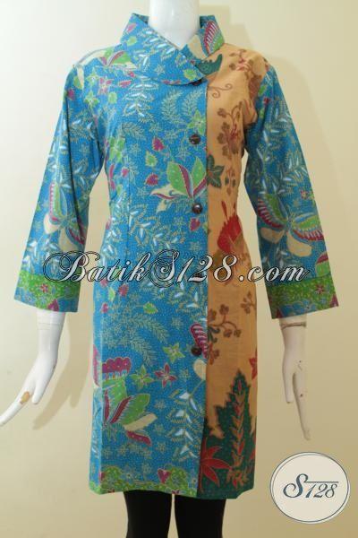 Toko Online Aneka Batik Jawa Khas Solo, Sedia Dress Batik Paling Keren Saat Ini Yang Cocok Untuk Seragam Kerja Dan Baju Pesta [DR2925PL-L]