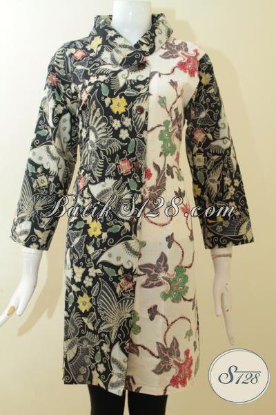 Batik Klasik Modern Dua Motif Trend Terbaru Warna Hitam