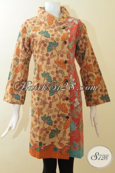 Toko Aneka Batik Online Terlengkap Dan Paling Murah, Sedia Baju Batik Dress Kwalitas Halus Proses Print Lasem Dengan Motif Dan Warna Berkelas [DR2931PL-XL]