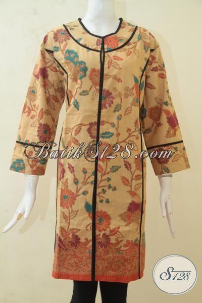 Dress Batik Elegan Model Mewah, Baju Batik Murah Kwalitas Bagus, Busana Batik Perempuan Buatan Solo Lebih Trendy Dan Terjangkau, Size XXL
