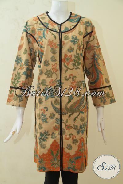 Baju Batik Pesta Ukuran Jumbo, Pakaian Batik Istimewa Size 3L, Batik Dress Istimewa Perempuan Gemuk Terlihat Lebih Langsing, Size XXL