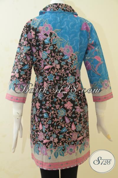 Dress Batik Paling Keren Kombinasi Dua Motif, Baju Batik Solo Trendy Model Terbaru Yang Lebih Mewah, Busana Batik Print Solo Lebih Halus Lebih Murah [DR3442P-M]