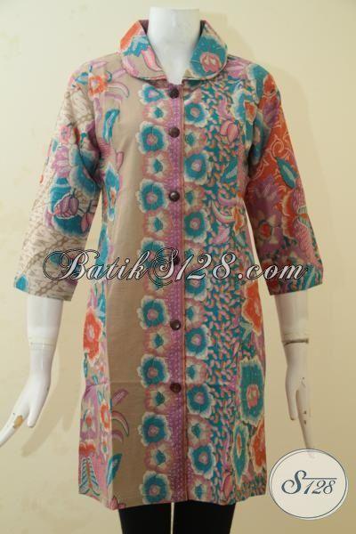 Pakaian Batik Dress Terbaru Desain Istimewa Harga Terjangkau, Baju Batik Keren Dan Modis Kwalitas Halus Proses Printing, Size S – XXL