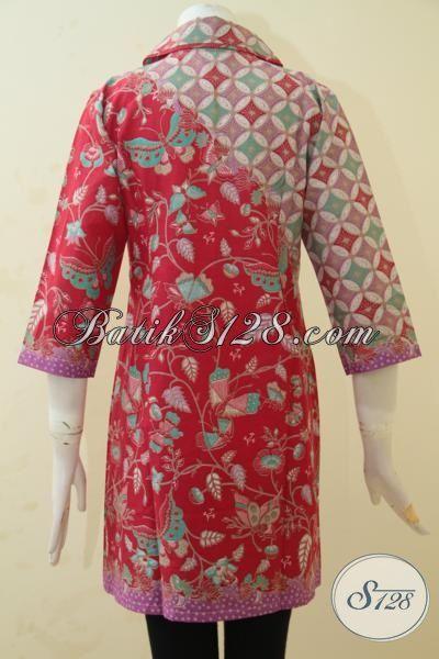 Jual Baju Batik Online Untuk Wanita, Busana Atasan Batik Desain Dress Modern Dengan Motif Mewah Dan Berkelas, Bisa Untuk Santai Dan Formal