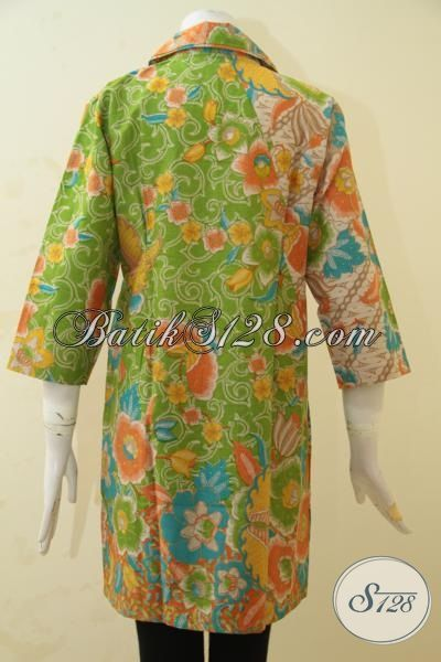 Batik Dress Size L Motif Terbaru Lebih Mewah Dengan Warna Trendy Kwalitas Istimewa Proses Printing, Bisa Buat Kerja Dan Kondangan