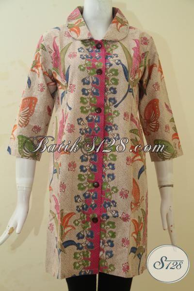 Produk Baju Batik Motif Terkini Yang Lebih Bagus Dan Trendy, Dress Batik Printing Elegan Wanita Dewasa Bisa Tampil Terlihat Menawan Dan Keren, Size XL