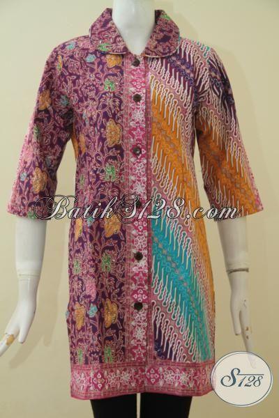 Model Pakaian Batik Dress Terbaru Dengan Bahan Halus Serta Harga Yang Terjangkau, Seragam Batik Buatan Solo Proses Cap Tulis Ukuran Kecil Istimewa Buat Wanita Muda [DR3621CT-S]