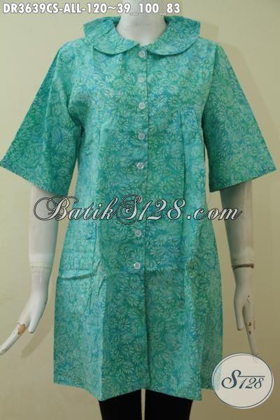 Dress Batik Keren Banget Buat Cewek, Gaul Produk Busana Batik Cewek Terbaru Desain Modis Sekali Cocok Untuk Hangouts, Proses Cap Smoke [DR3639CS-All Size]