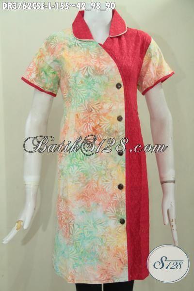 Baju Dress Batik Trendy Model Terbaru Lebih Berkelas Dan Mewah