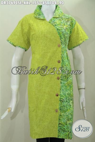 Produk Dress Batik Trendy Bahan Kain Embos Dan Katun Baju Batik