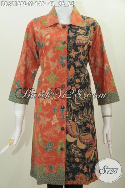 Pakaian Batik Trendy Untuk Perempuan Karir, Baju Kerja Istimewa Kwalitas Bagus Harga Terjangkau Bahan Batik Printing, Size M