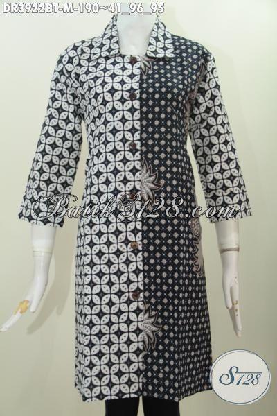 Jual Dress Batik Elegan Motif Klasik Nan Mewah Baju Batik Hitam