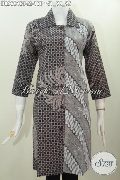 Jual Produk Baju Batik Klasik Motif Terkini Berbahan Bagus Proses Kombinasi Tulis, Batik Formal Wanita Muda Tampil Matang Dan Berkharisma, Size M