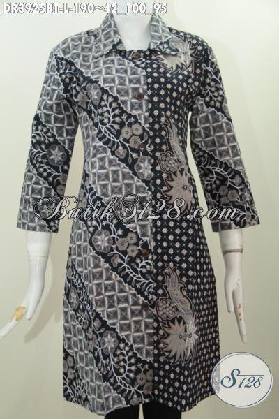 Online Shop Baju Batik Wanita, Sedia Dress Elegan Motif Klasik Buatan Solo Proses Kombinasi Tulis, Cocok Untuk Ke Kantor, Size L