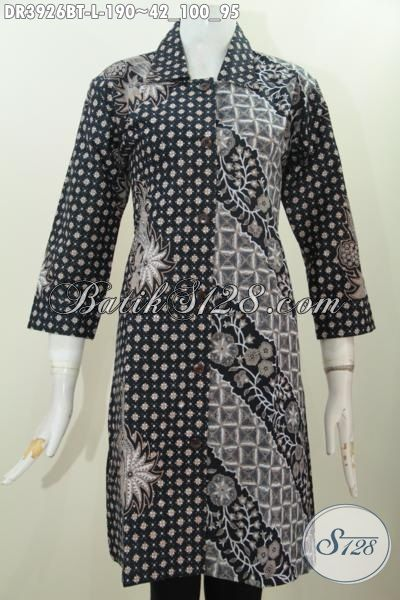 Baju Dress Batik Istimewa Buat Perempuan Muda Dan Dewasa Tampil Elegan Dan Mempesona, Baju Batik Kombinasi Tulis Motif Klasik Kwalitas Premium Harga Minimum, Size L