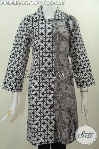 Produk Baju Batik Jawa Masa Kini Desain Berkelas Motif Elegan Berbahan Halus Dan Adem, Pakaian Batik Jawa Kombinasi Tulis Bisa Santai Dan Resmi, Size XXL
