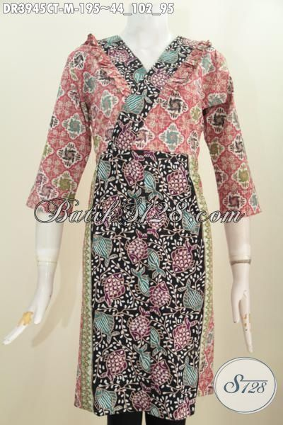 Baju Kerja Batik Motif Ikan Model Terkini Yang Banyak Di Sukai Wanita Karir, Pakaian Batik Berkelas Untuk Tampil Trendy Serta Stylish, Size M