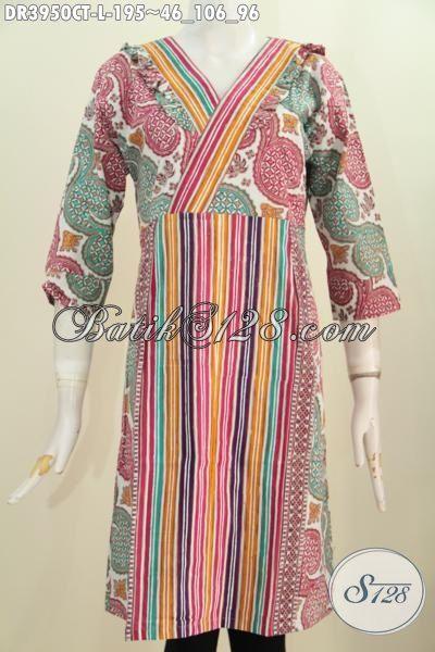 Busana Batik Wanita Masa Kini Dengan Motif Keren Cap Tulis, Produk Baju Batik Model Terbaru Yang Banyak Di Suka Pekerja Kantoran [DR3950CT-L]
