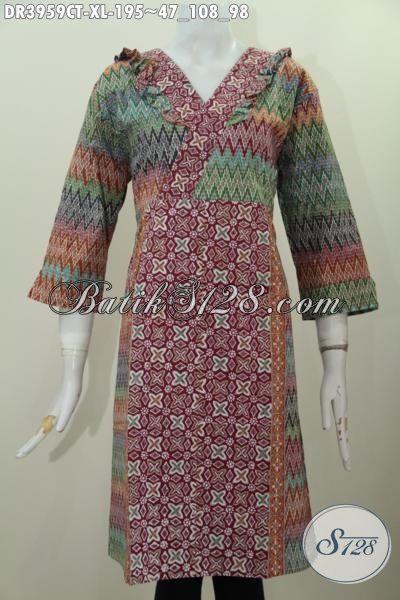 Butik Batik Terlengkap, Jual Online Dress Batik Wanita Masa Kini, Pakaian Batik Ukuran XL Yang Modis Dan Fashionable Untuk Segala Acara