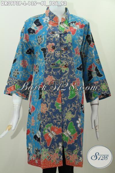 Jual Pakaian Batik Dress Ukuran L Buat Perempuan Masa Kini, Baju Batik Istimewa Buat Kerja Dan Pesta Tampil Modis Dan Lebih Gaya