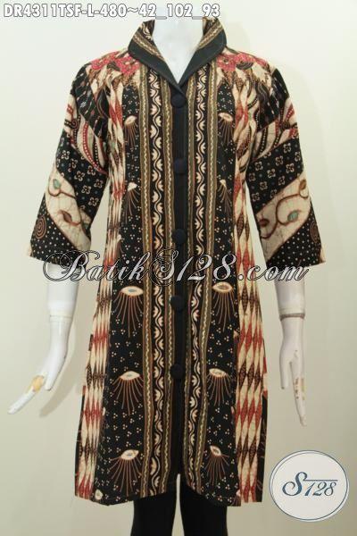 Baju Dress Batik Elegan Dan Mewah Seragam Kerja Wanita