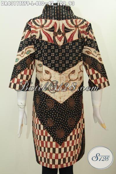 Baju Batik Formal Elegan Tulis Soga Buatan Pengerajin Kampung, Busana Batik Premium Full Furing Desain Mewah Tampil Lebih Percaya Diri, Size L
