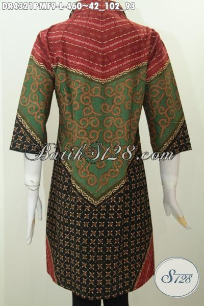 Baju Batik Klasik Elegan Nan Mewah, Pakaian Batik Formal Motif Terkini Proses Kombinasi Tulis, Baju Batik Solo Halus Harga 400 Ribuan Untuk Wanita Karir Sukses, Size L