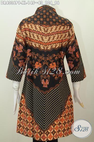 Busana Batik Solo Elegan Motif Klasik Sinaran Matahari, Baju Batik Berkelas Desain Mewah Proses Printing Tampil Lebih Stylish Dan Berkarisma Hanya 145K [DR4336P-XL]