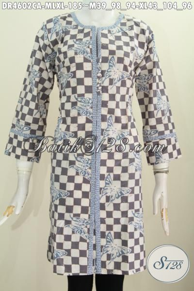 Produk Busana Batik Trendy Motif Unik Berbahan Halus Proses Cap Warna Alam, Pakaian Bati Modis Berkelas Cocok Buat Hangout, Size M – L – XL