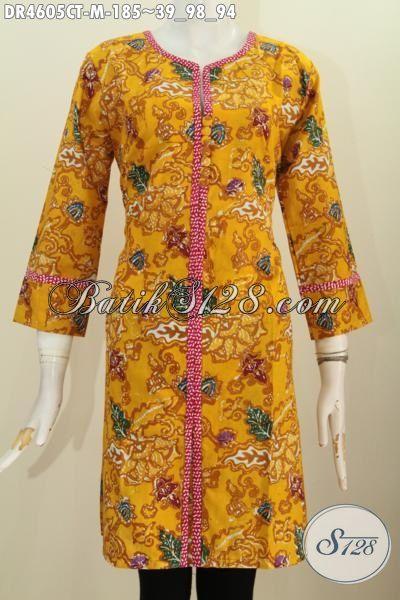Baju Dress Trendy Warna Kuning Kwalitas Bagus Bahan Halus