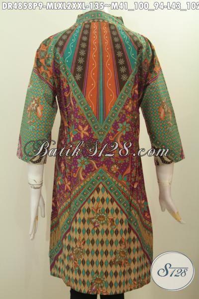 Aneka Baju Batik Klasik Buat Wanita Muda Dan Dewasa, Busana Batik Elegan Berbahan Halus Motif Klasik Penunjang Penampilan Lebih Berkelas, Berbahan Halus Proses Printing Model Kerah Langsung Asli Buatan Solo