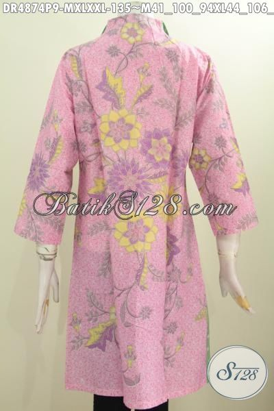 Pakaian Batik Wanita Muda Dan Dewasa Model Terbaru Kerah Langsung, Produk Baju Dress Batik Istimewa Khas Jawa Tengah Proses Printing Untuk Tampil Istimewa Dengan Harga Biasa, Size M – XL – XXL