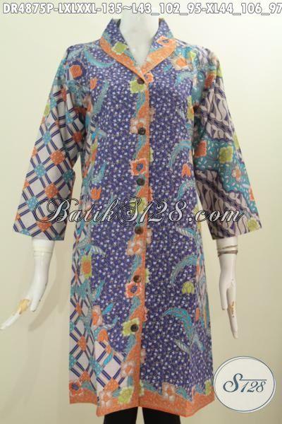 Aneka Baju Batik Wanita Dewasa Terbaru, Hadir Dengan Motif Berkelas Model Kerah Langsung Proses Printing Yang Cocok Buat Acara Formal Dan Santai, Size L – XL – XXL