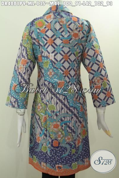 Sedia Busana Batik Kerah Safari Motif Mewah Warna Pagi Sore, Berbahan Halus Proses Printing 130 Ribuan, Size M – L