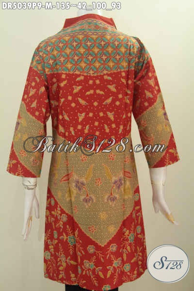 Di Jual Online Batik Dress Istimewa Motif Bagus Bahan Adem Proses Printing, Produk Baju Batik Solo Untuk Wanita Muda Tampil Gaya Dan Elegan Dengan Harga Terjangkau [DR5039P-M]